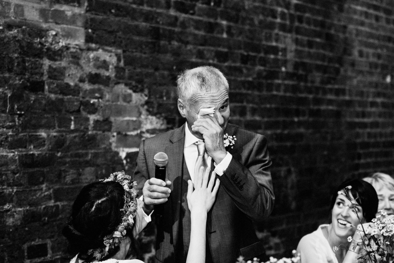 Emotional Father of the Bride speech