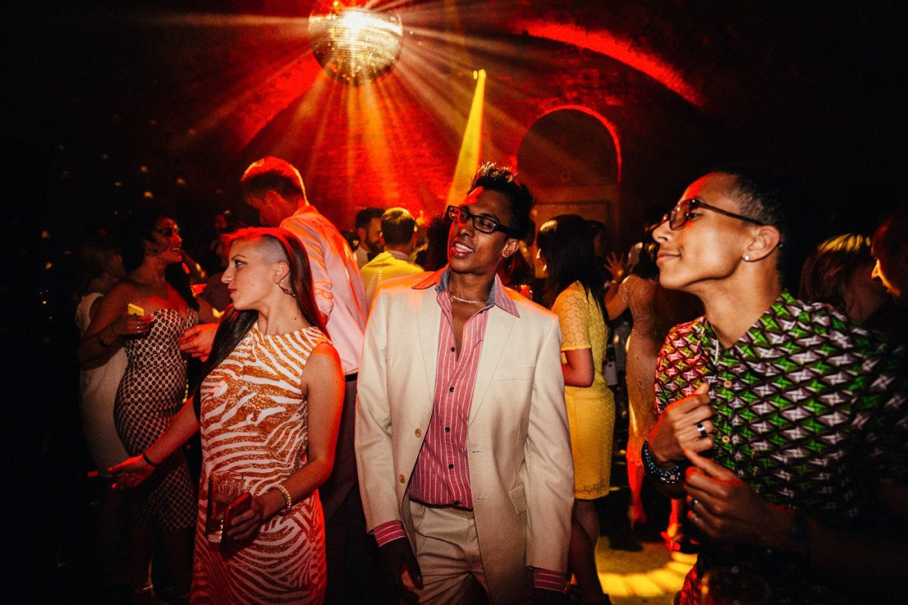 Shoreditch Wedding guests dance BABB