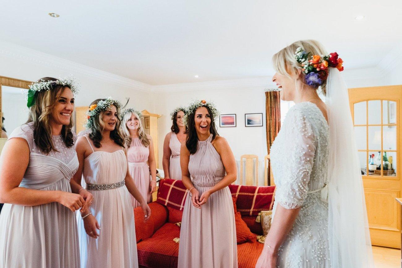 Emma Beaumont Bride with bridesmaids