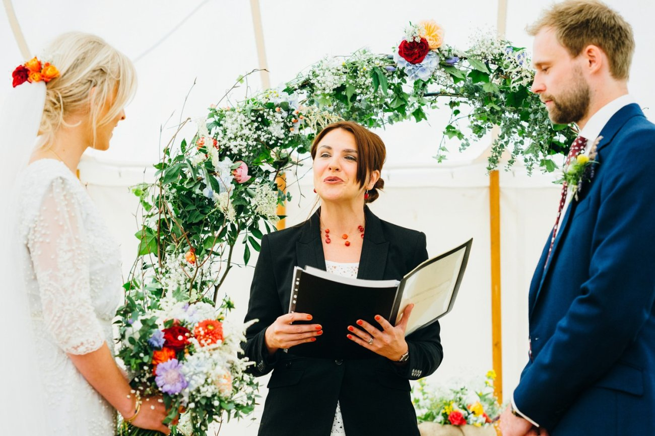 Emma Beaumont bride & groom take vows