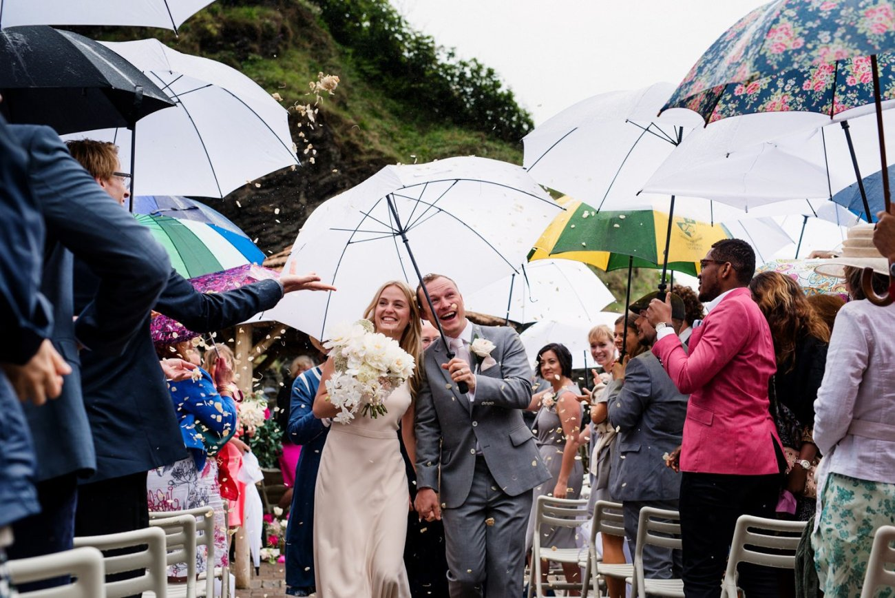 What happens if it rains at my wedding