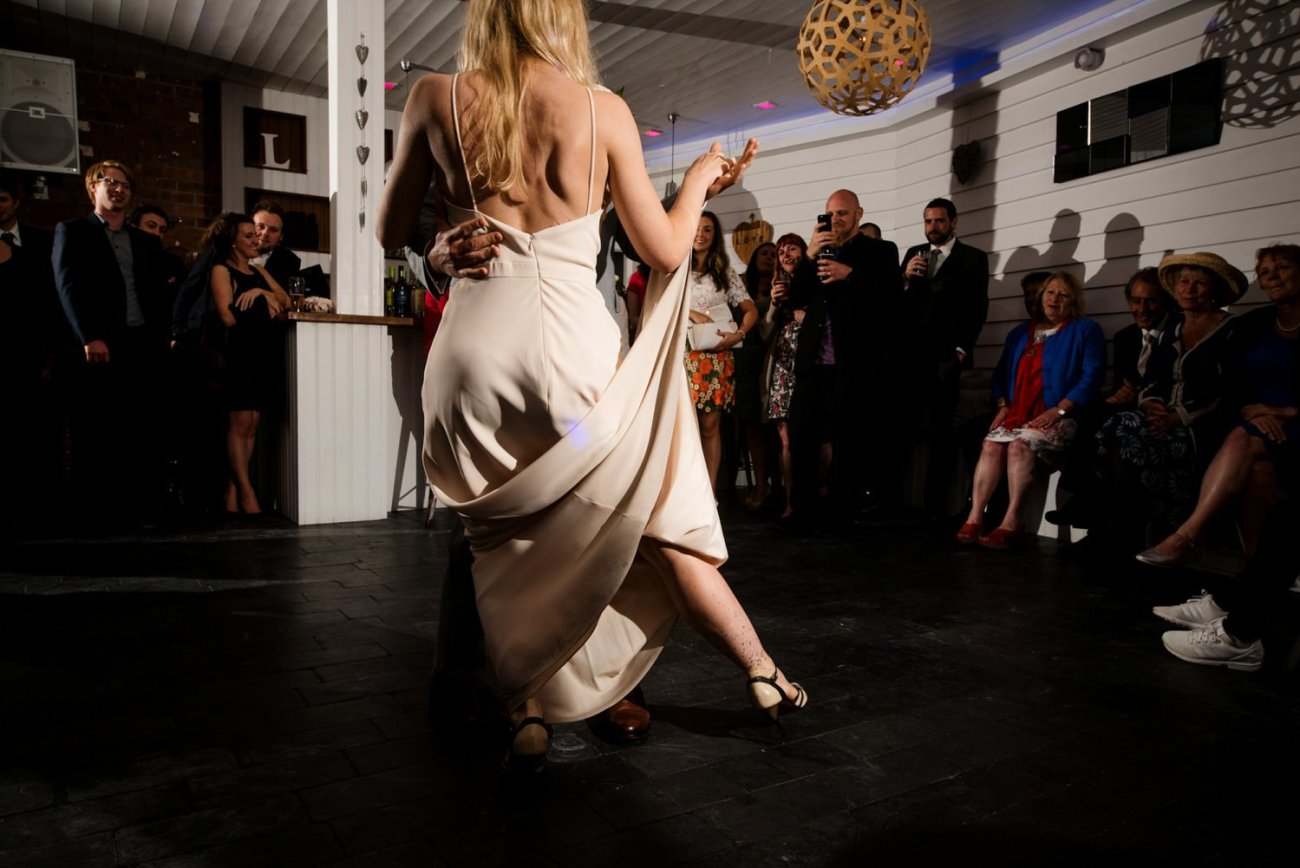 Creative first dance documentary wedding photography Devon