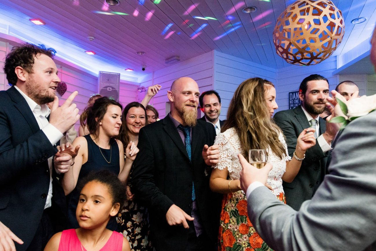 Colourful quirky documentary wedding photography Devon