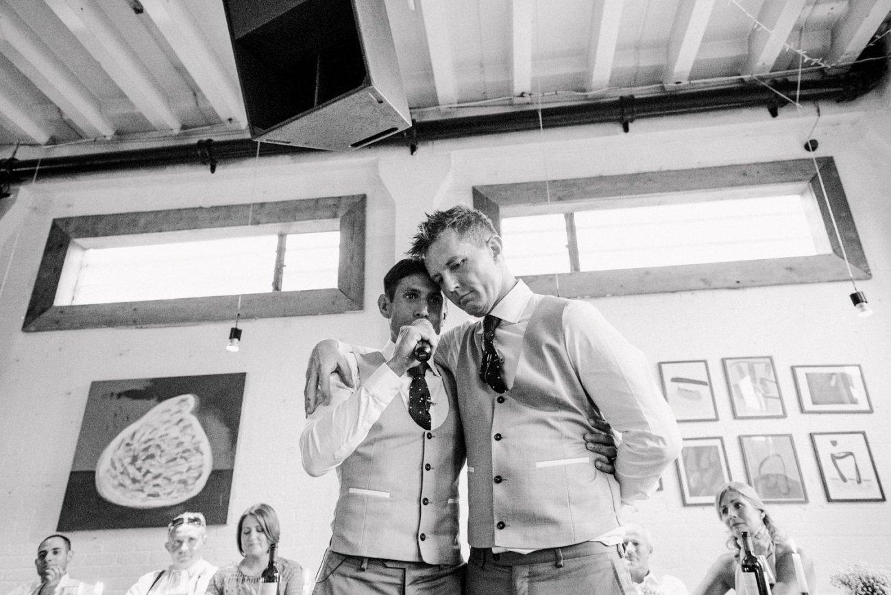 Story telling same sex wedding photography London