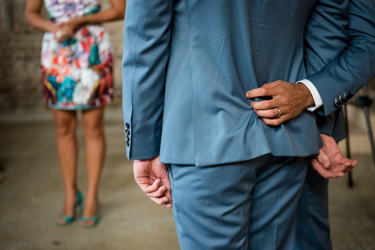 Story telling same sex wedding Hackney London