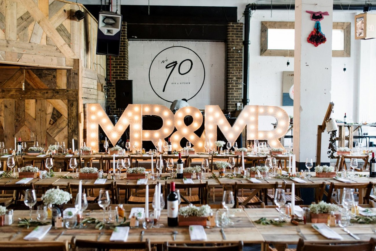 Mr & Mr sign same sex London wedding