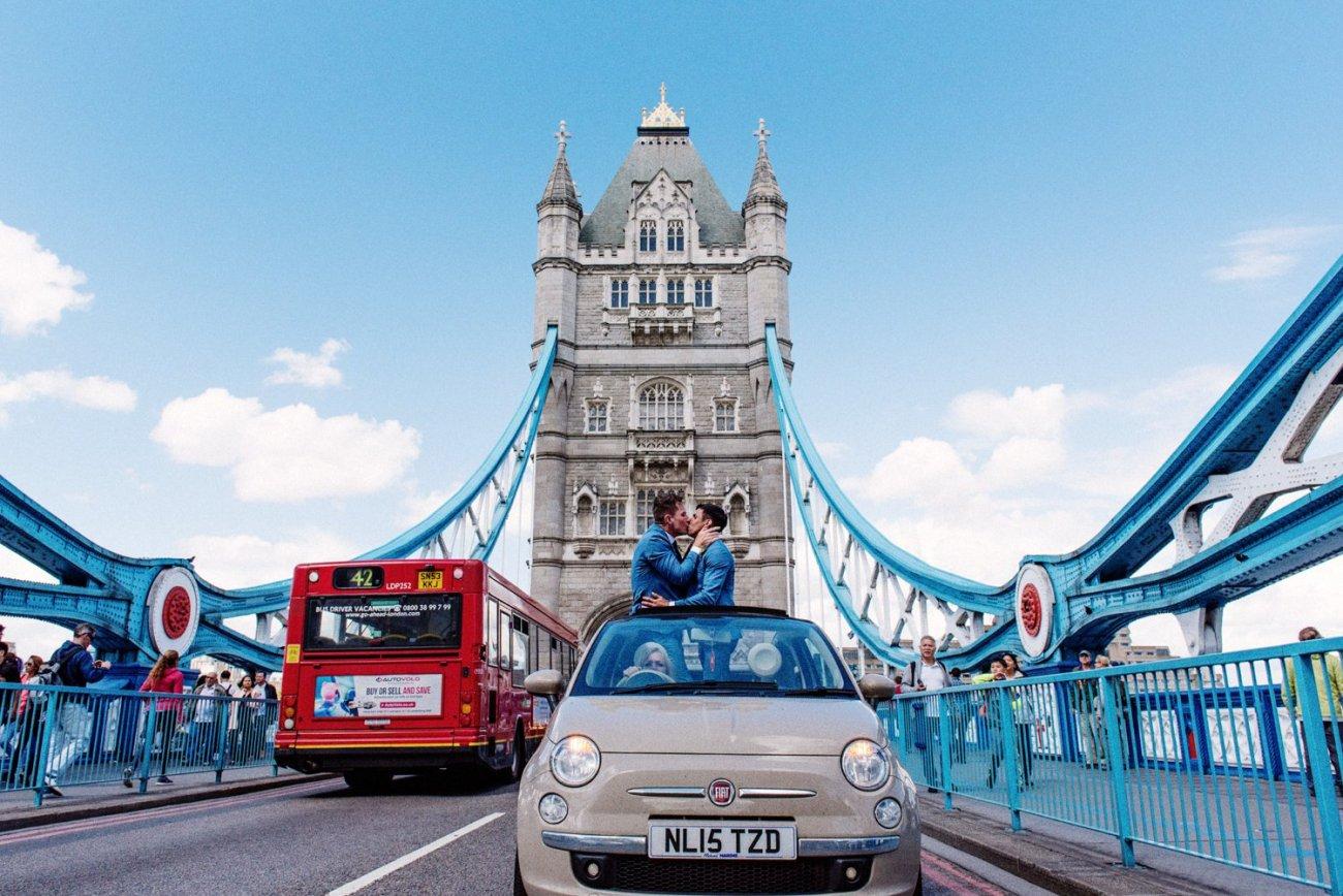Creative award winning London wedding photographer Babb Photo