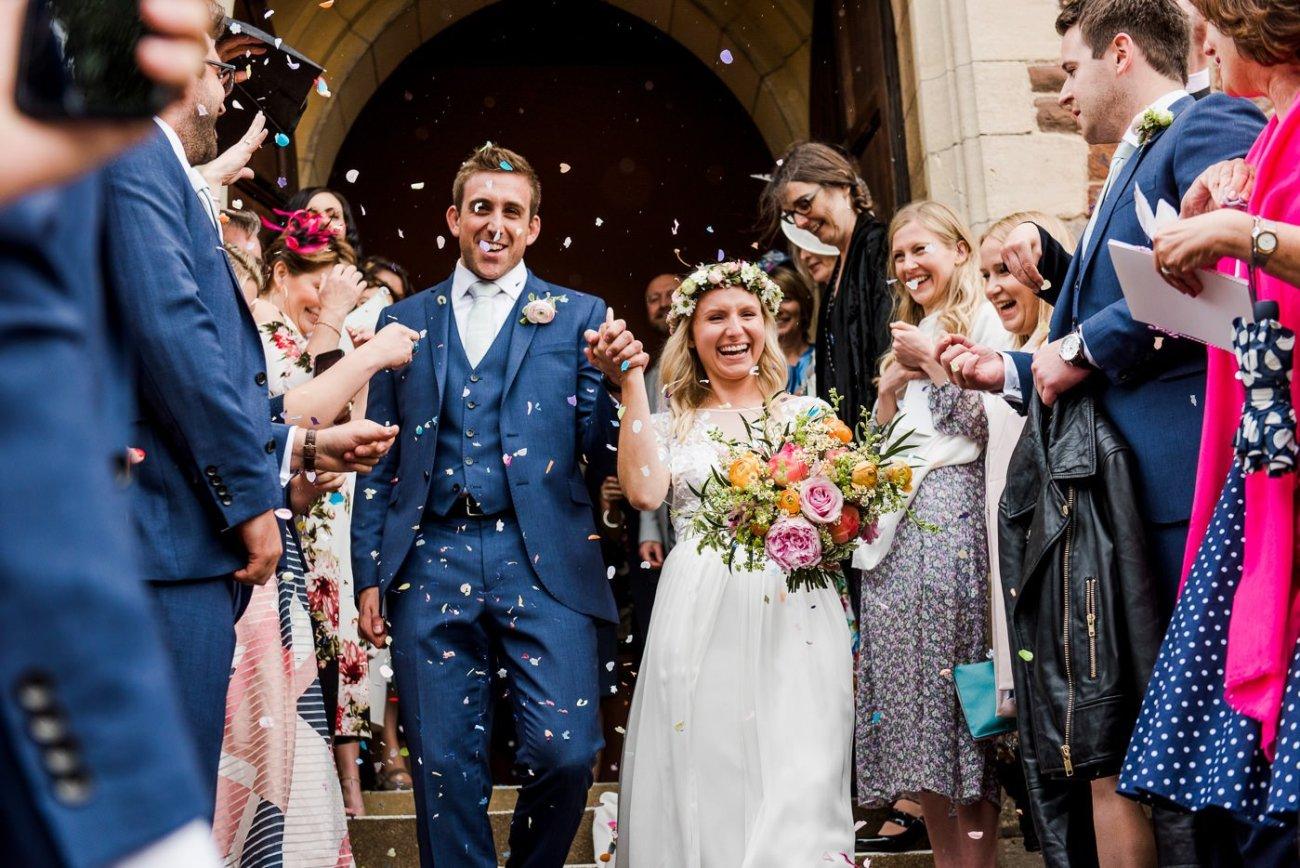 confetti exit paintworks wedding photographer