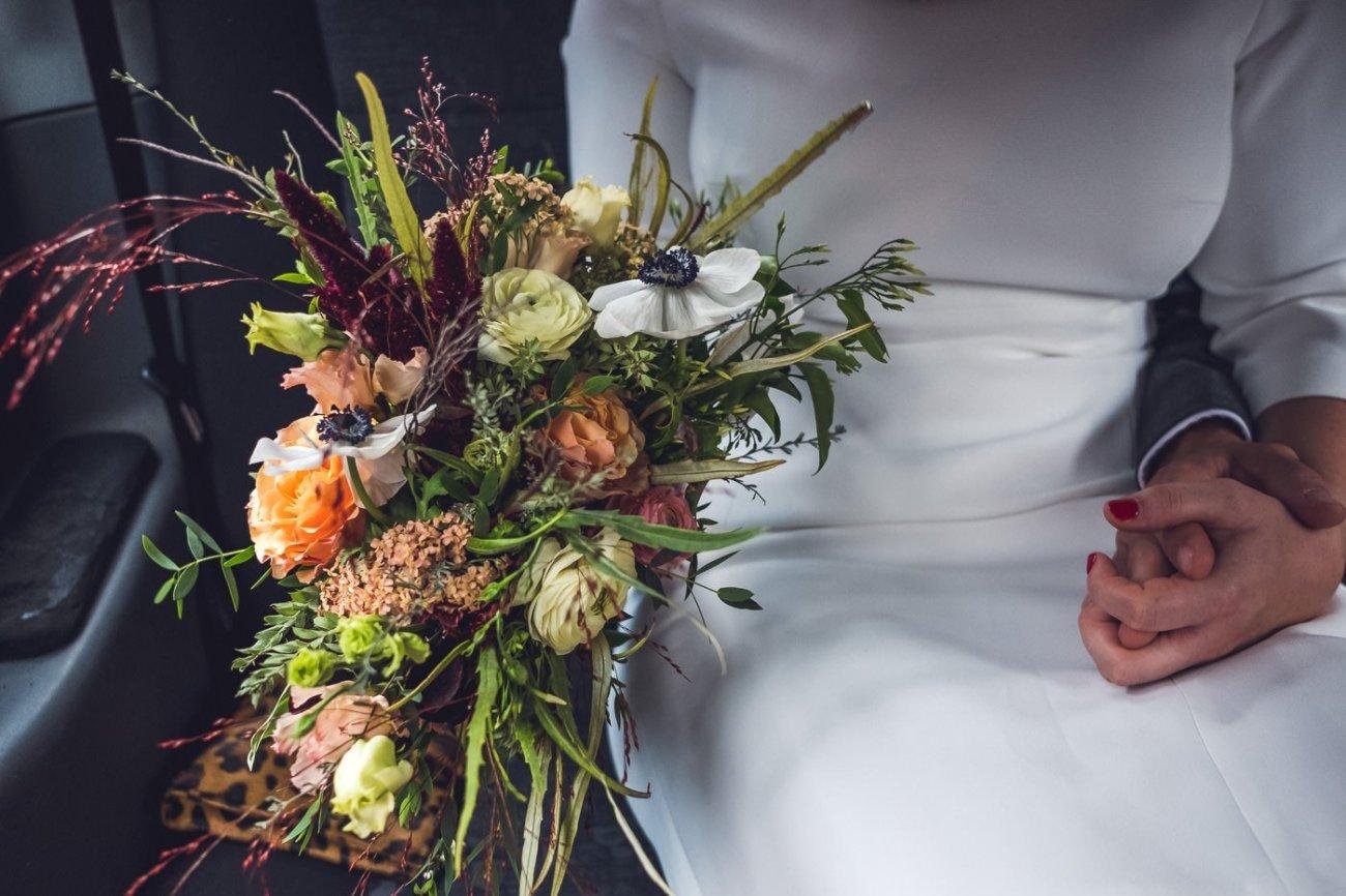 elopement ideas taxi wedding transport