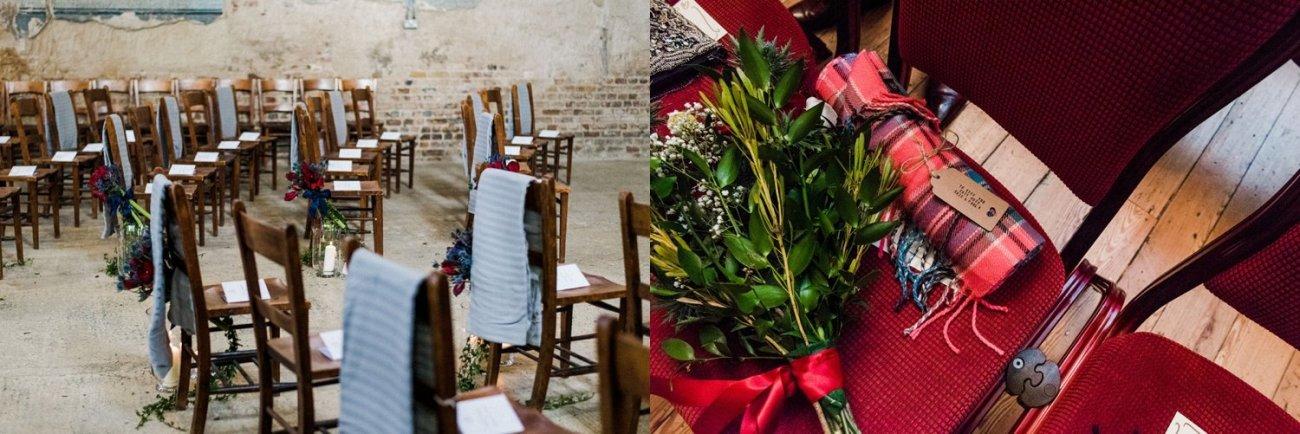Blankets as wedding favours christmas wedding ideas