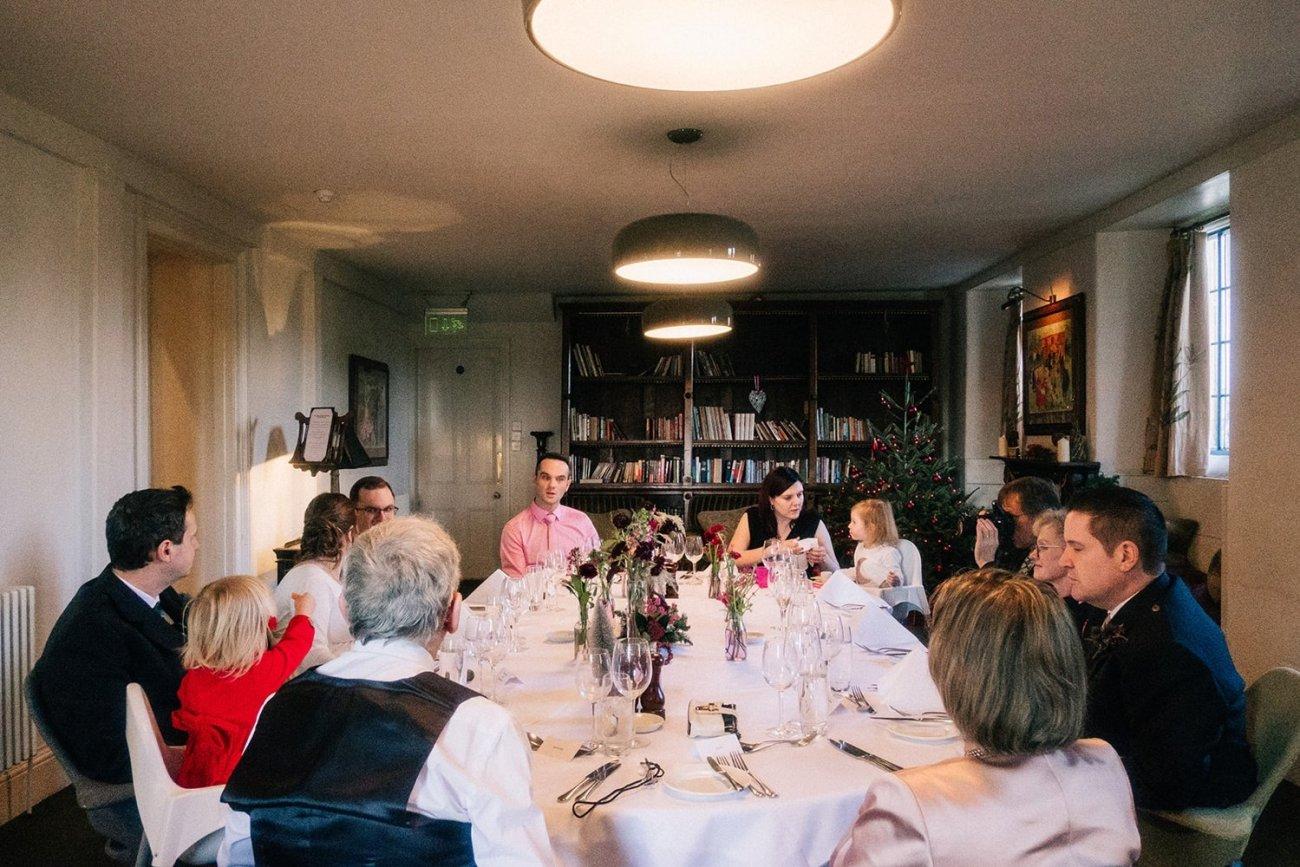 Intimate dining Christmas woolley grange wedding bradford on avon