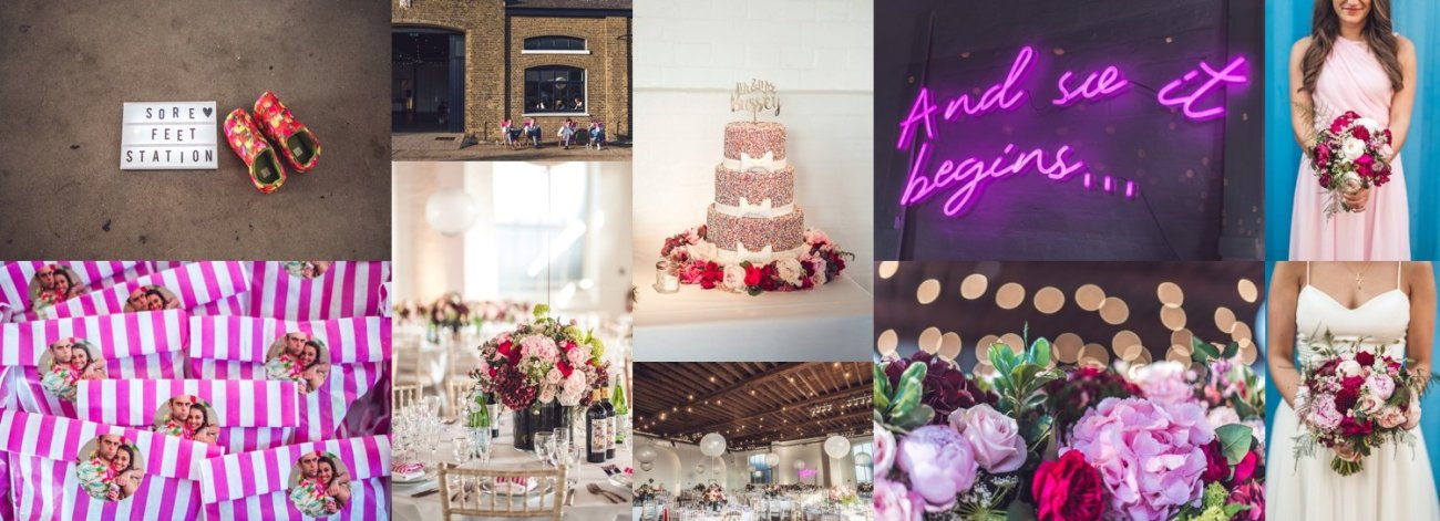 Weddings-at-Trinity-Buoy-Wharf-pink-florals-and-neon