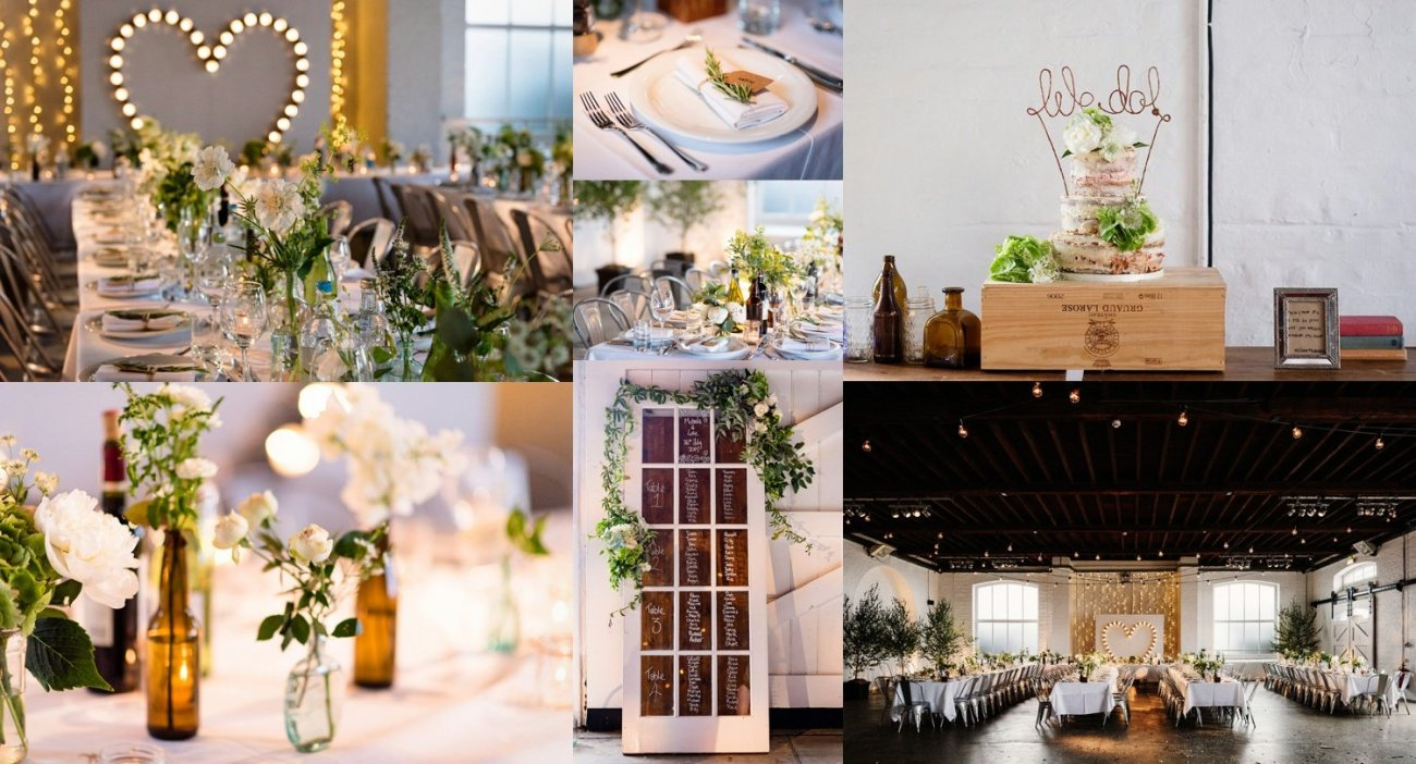 Weddings-at-Trinity-Buoy-Wharf greens creams and rustic touches