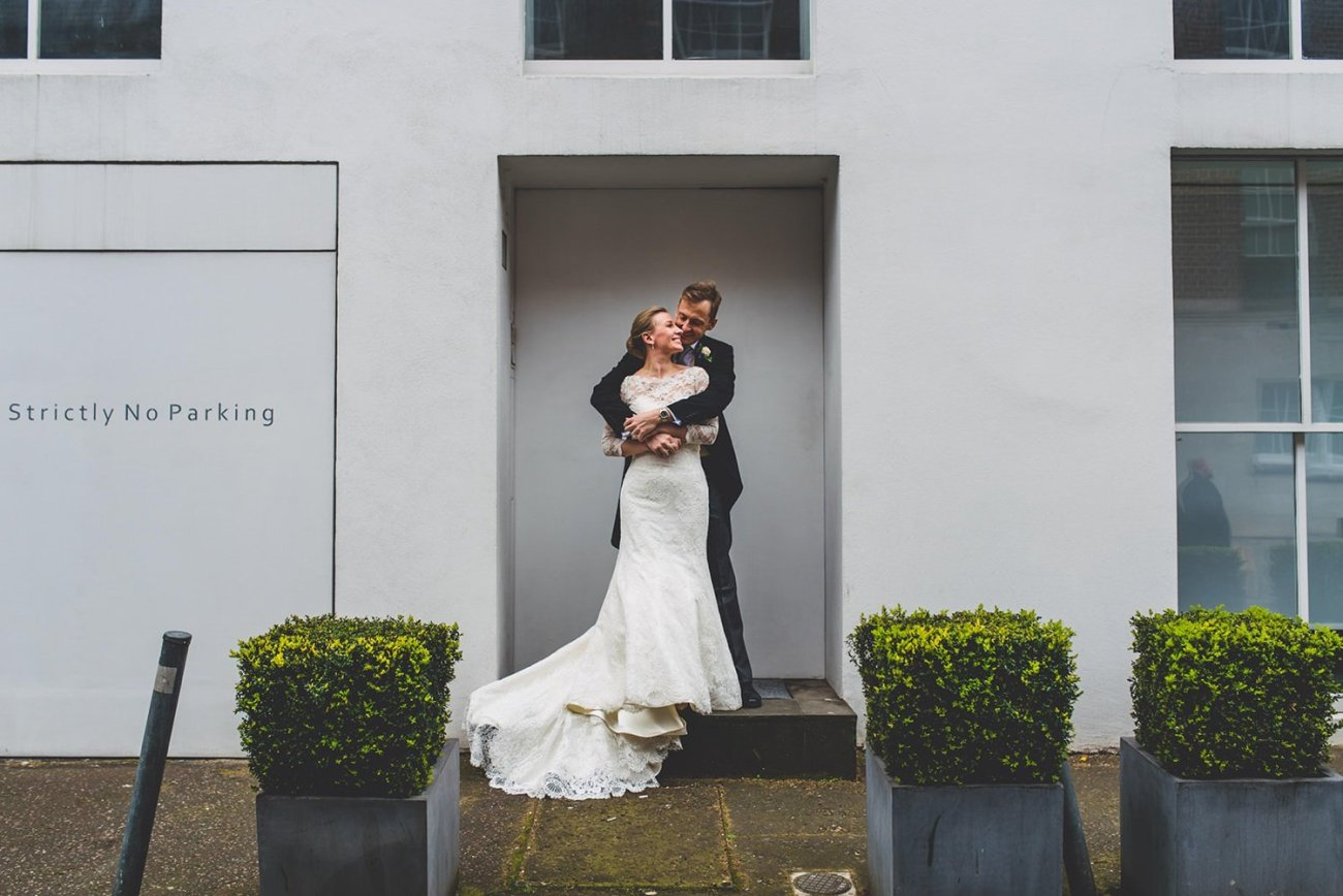 Edgy wedding portraits Dartmouth House wedding photography