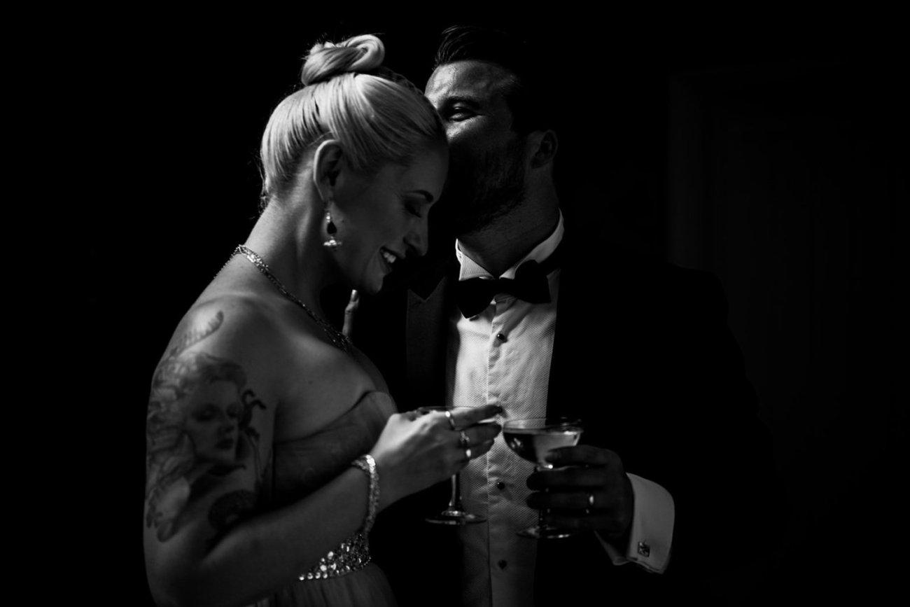 Moody bride and groom portrait birmingham
