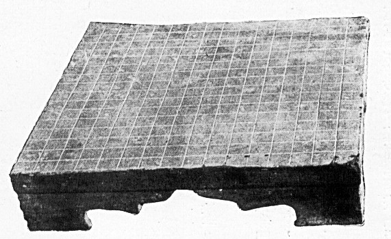 Stone Weiqi board from the Han dynasty