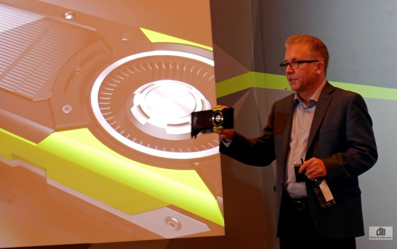 Bob Pette, Vice President of NVIDIA's Quadro business unit, unveils the P6000