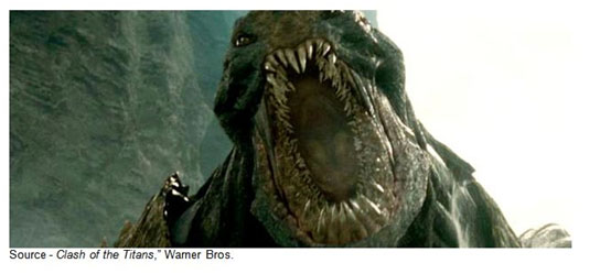 """Release the Kraken!"" – Zeus, ""Clash of the Titans,"" Warner Bros., 2010"