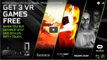 New NVIDIA & Oculus VR Games Bundle launches today together with a new GeForce driver!