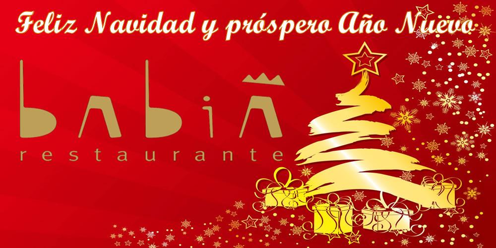 Motivos para celebrar la Navidad y Año Nuevo en Restaurante Babia
