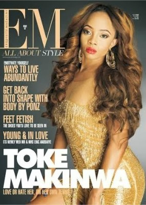 Toke Makinwa Dazzles On THe Cover Of Exquisite Magazine, February Issue