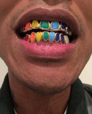 Pharrell Williams Dons Gay Flag Grill