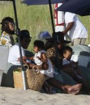 Jay Z, Beyonce and twins on vacation