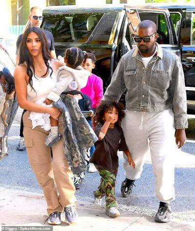 Kim Kardashian West and family