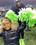 Ciara and daughter cheer on dad, Russell Wilson