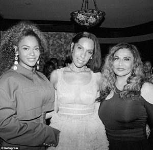 Family affair : Beyonce pose alongside mother,Tina Lawson in knew photo