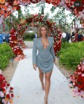 Beyonce stuns in plunging gown