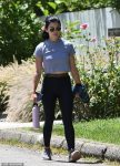 Lucy Hale spotted taking a walk in chic workout outfit