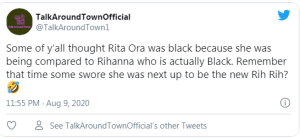 People actually thought Rita Ora is Black???