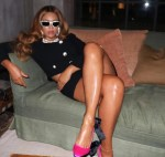 Beyonce shows off some serious legs in black