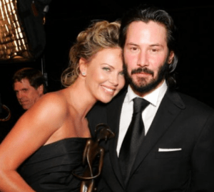 Chalize Theron and Keanu Reeves