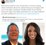 Maria Taylor replies Dan McNeil for that sexist comment