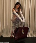 Kendall Jenner models Givenchy in sheer gown