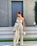 Kylie Jenner stuns in monochrome outfit