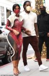 Cardi B in a sheer dress on a shopping spree with Offset