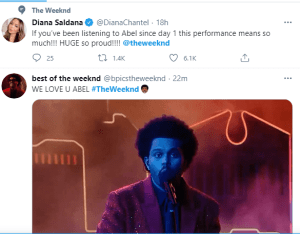 The Weeknd Super Bowl performance gets a lot of reaction on Twitter
