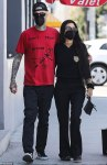 Kourtney Kardashian and Travis Barker on a lunch date
