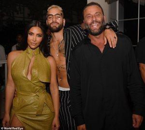 Kim Kardashian and Maluma party in Miami
