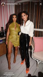 Kim K and Victoria Beckham