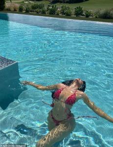 Kylie Jenner sizzles in tiny bikini