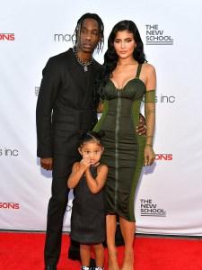 Kylie Jenner, Travis Scott and Stormi