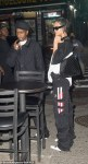 Rihanna and ASAP Rocky casual style in New York