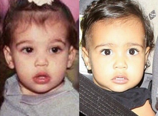 Photo : Does North West Look Like Kim Or Kanye?