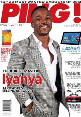 Iyanya on the cover of Ping Magazine.