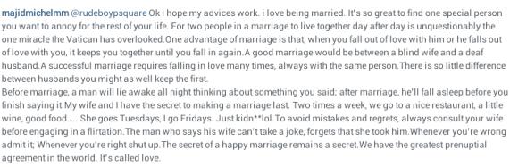 Read Majid Michel's Marriage Advice To Paul Okoye