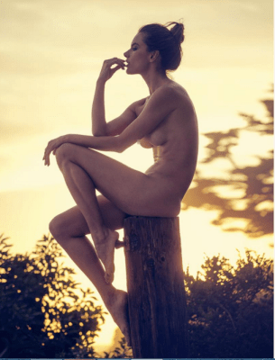 Alessandra Ambrosio Bares It All For A Nude Shoot
